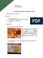 Extracción de Mandarina-