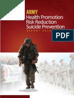 Health Promotion, Risk Reduction, Suicide Prevention