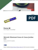 Metode Eliminasi Gauss & Gauss Jordan 4×4 – Penma 2B