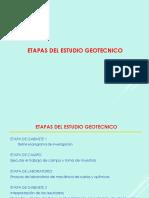 2.0 Etapas de Los Estudiso Geotecnicos