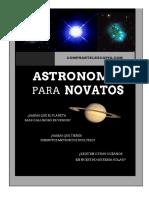 Astronomía para Novatos eBook PDF
