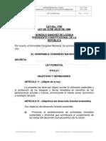 Ley 1700 Ley Forestal BOLIVIA