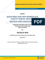 Quad bike and OPD workplace safety survey report.