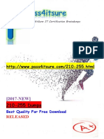 New Pass4itsure Cisco 210-255 Dumps PDF -  Implementing Cisco Cybersecurity Operations