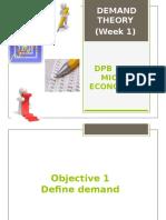 Microeconomics Chapter 2.1 Demand Theory (Week 1)