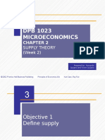 Microeconomics Chapter 2.2 Supply Theory (Week 2)