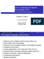 Winter School in Language and Speech