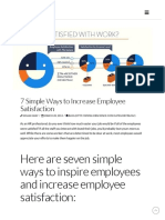7 Simple Ways to Increase Employee Satisfaction