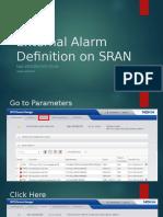 External Alarm Definition on SRAN
