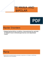 Acute Mania & Bipolar JB