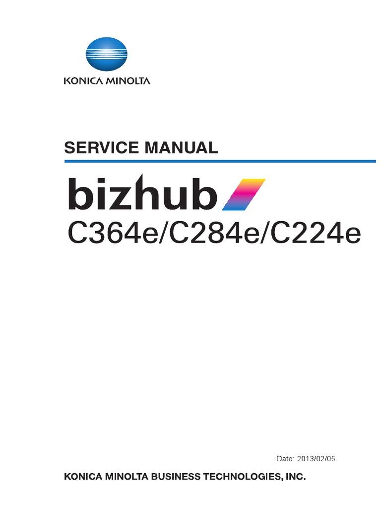 BizhubC364e C284e C224e ServiceManual E Ver1 0   Aviation