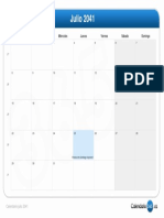 Calendario Julio 2041