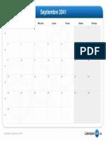 Calendario Septiembre 2041