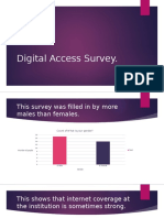 Digital Access Survey