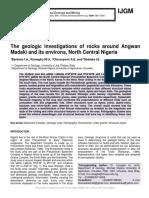 The geologic investigations of rocks around Angwan Madaki and its environs, North Central Nigeria