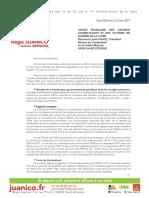 Ma réponse à l'interpellation de l'UFAC Loire