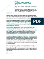PTE Sample Essays