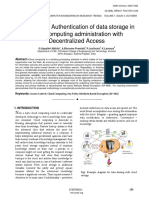 Anonymous Authentication of data storage in cloud computing administration with Decentralized Access