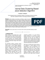 High Dimensional Data Clustering Based On Feature Selection Algorithm
