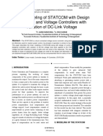 Linear Modeling of STATCOM with Design of Current and Voltage Controllers with Variation of DC-Link Voltage