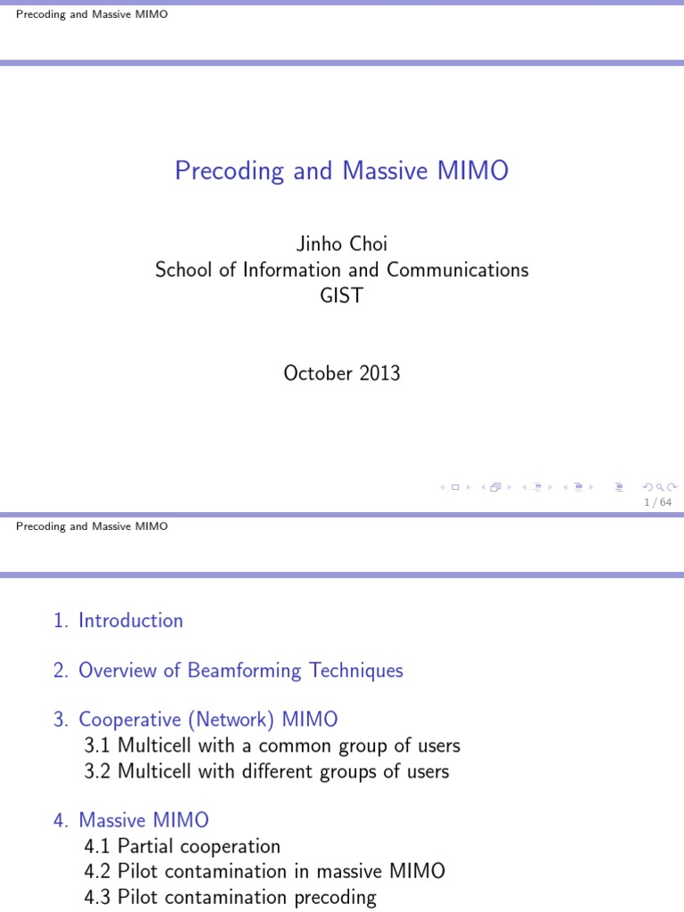 Precoding in mimo ppt