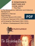 4.the Renaissance. Elizabethan Age