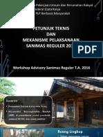 1. PPT Petunjuk Teknis Sanimas REGULER 2016 Dan Mekanisme Program -Revisi2- Presented