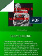 Body Building e Tecniche Di All.tecnICHE Di ALLENAMENTO 1