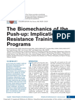 The Biomechanics of the Push Up Implications for Resistance Training Programs