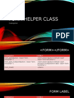Form Helper Class