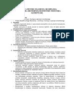 Tematica Pentru Examenul de Licenta Bia 2017