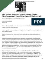 'Gabriele D'Annunzio- Poet, Seducer, an...acher of War,' Reviewed | New Republic