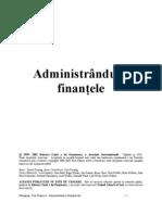 Administrându-ţi finantele