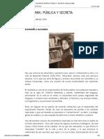 Alejandra Pizarnik_ Pública y Secreta_ Septiembre 2008