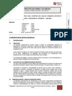 01 Especificaciones Tecnicas - Centro de Salud Tarata