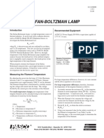 Stefan Boltzman Lamp