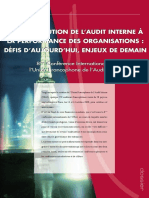 Contribution de l'Audit Interne à La Perfor Des Organisations