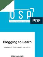 Teaching Through Blogging