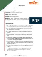 Sourcing Specialist - Procurement