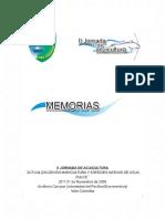 Memorias II Jornada Acuicultura