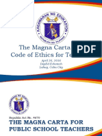 14. Magna Carta and Code of Ethics
