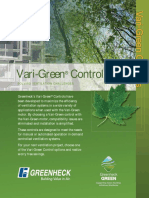 Greenheck Vari-Green Controls Catalog
