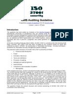 ISO27k Guideline on ISMS Audit v1