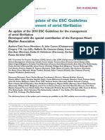 Guidelinde of Atrial Fibrilation
