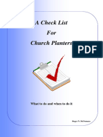 Check List for Church Planting