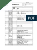Lista de Registros(Brc 2011)