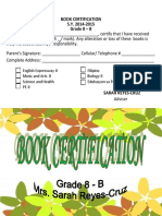 Book Certification
