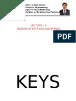 Keys and Couplings