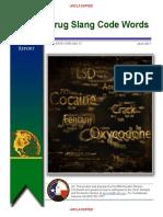DEA's List of Drug Slang and Code Words