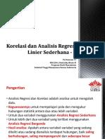 Korelasi Dan Analisis Regresi Linier Sederhana